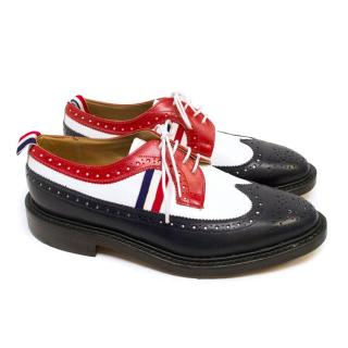 Thom Browne Blue, Red and White Leather Brogues