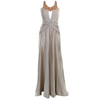 Jenny Packham Collection Embellished Silk Evening Gown