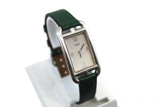 Vintage Hermes Silver Cape Cod Nantucket Watch