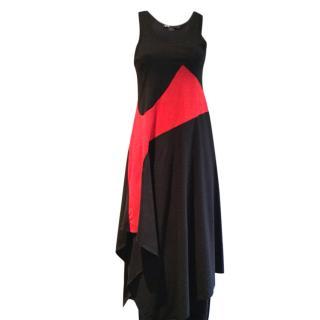 Y-3 Yohji Yamamoto black & red dress