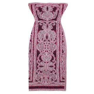 Herve Leger Bandeau Bodycon Printed Dress