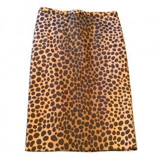 Moschino leopard print skirt