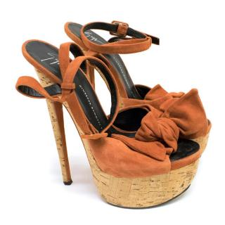 Giuseppe Zanotti Orange Platform Sandals