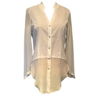 Helmut Lang white blouse