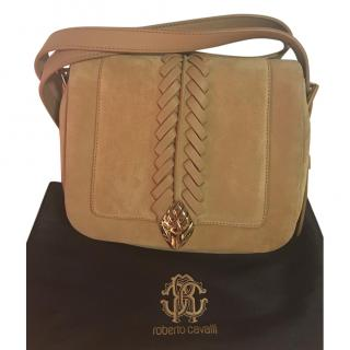 Roberto Cavalli Serpent Suede Bag