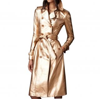 Burberry Gold Leather Coat