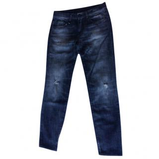 R13 relaxed skinny grey/black jeans