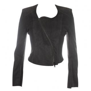 Haider Ackermann Suede Leather Zip Jacket