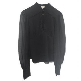 Temperley Black Silk Blouse
