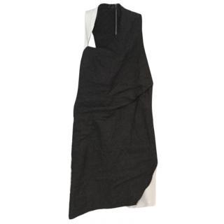 Helmut Lang black & cream leather dress.