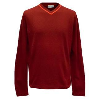 Clements Ribeiro Dark Red Cashmere Jumper