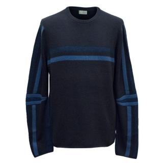 Clements Riberio Navy Striped Jumper