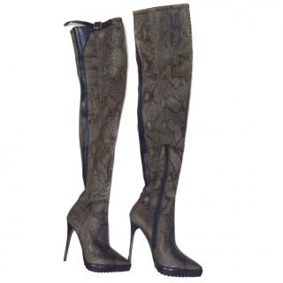 Burberry OVER THE KNEE PYTHON BOOTS