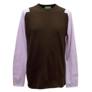 Clements Ribeiro Brown and Lilac Cashmere Jumper