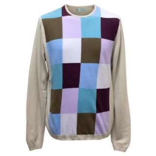 Clements Ribeiro Taupe Geometric Print Jumper