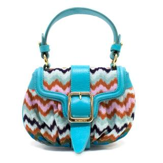 Missoni Mini Blue Printed Vintage Bag