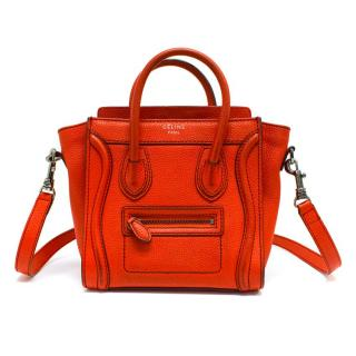 Celine Red Nano Luggage Bag