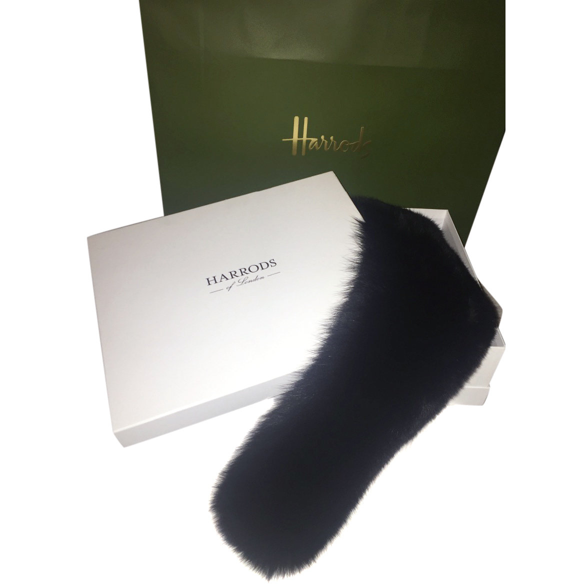 Harrods Of London Gents Fox Fur Collar