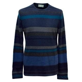 Clements Ribeiro Navy Striped Cashmere Jumper