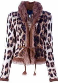 Roberto Cavalli Leopard Print Jacket With Fur Collar