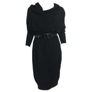Lanvin black knitwear wool & cashmere dress long sleeves