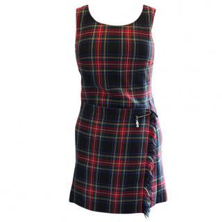Anna sui Tartan Dress Size Uk 12