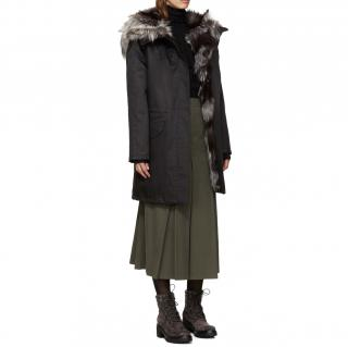 Yves Salomon Army Fox Fur Lined Parka