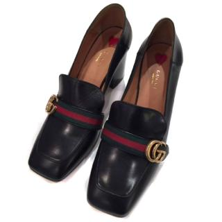 Gucci square toes Peyton pumps