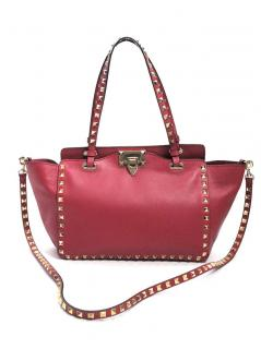 Valentino Rockstud Small Leather Tote Bag