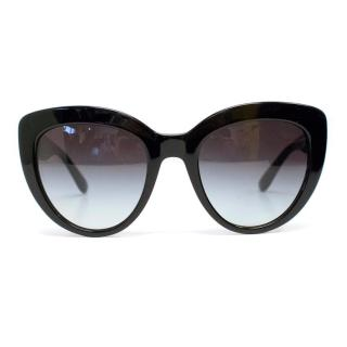 Dolce & Gabbana Black Cat Eye Sunglasses