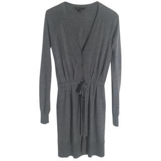 BCBGMAXAZRIA 100% merino wool grey long cardigan