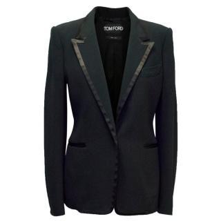 Tom Ford Black Blazer with Silk Trim