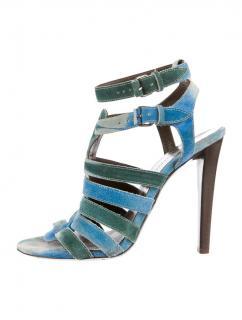 Balenciaga Blue Suede Tie-Dye Heels