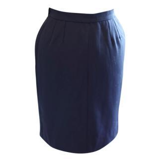 YSL Navy Blue Skirt