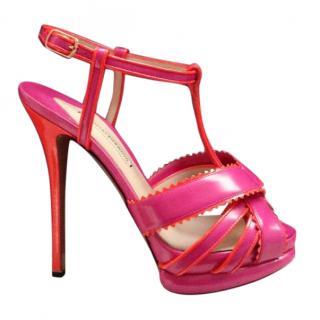 Nicholas Kirkwood Pink Leather Heels
