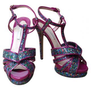 Nicholas Kirkwood Pink Glitter Heels