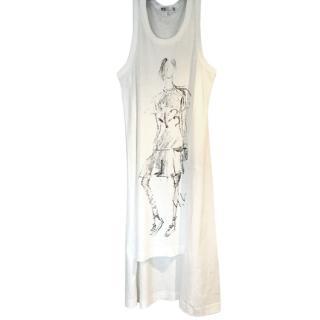 Y-3 Yohji Yamamoto White t- shirt dress.
