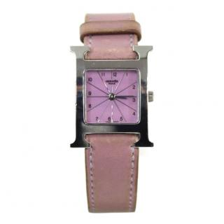 Hermes Limited Edition Pink Heure H Watch