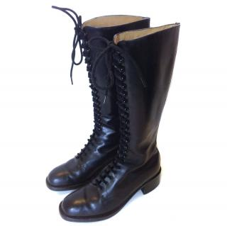 Free Lance black leather boots