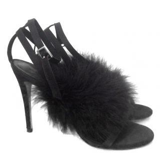 Topshop Black Fluffy Heels