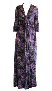 CATHERINE MALANDRINO Printed Silk Gown
