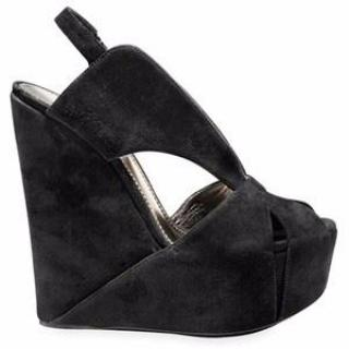 Dolce & Gabbana Black Suede Wedges