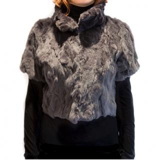 MaxMara Rabbit fur cropped jacket