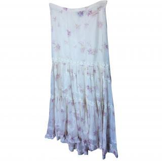 Ralph Lauren Floral lace maxi skirt size UK 10
