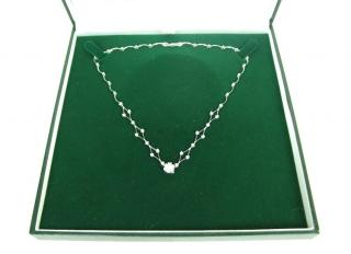 Vintage 18k white gold & diamond necklace
