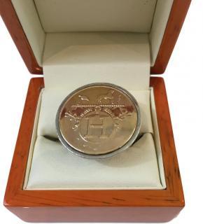 Hermes Rare Ring 18k gold & Silver.