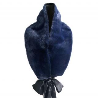 Yves Saint Laurent Blue Mink Fur Stole