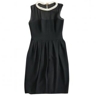 Moschino Cheap & Chic Black Pearl Embellished Dress