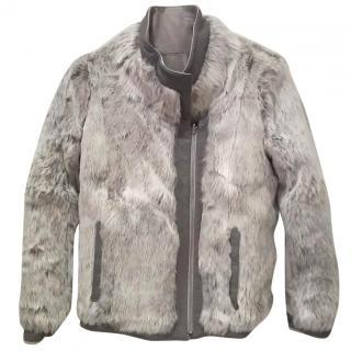 Helmut Lang Reversible Void Felt & Fur Coat