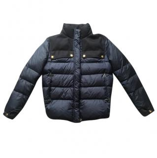 Marni leather trimmed puffer jacket